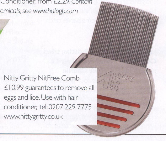 Nitty Gritty NitFree comb featured in       <br /> Be Kind To Hair<br /> (close up)