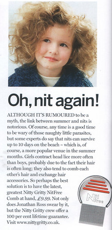 """Junior Magazine<br /> July 2007<br /> <br /> Junior Life page (Oh, nit again!)<br /> <br /> <a href=""""http://www.juniormagazine.co.uk"""">http://www.juniormagazine.co.uk</a>"""