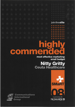 SMaRT Award Nitty Gritty 2nd Place