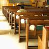 Praying in Empty Church --- Image by © Corbis