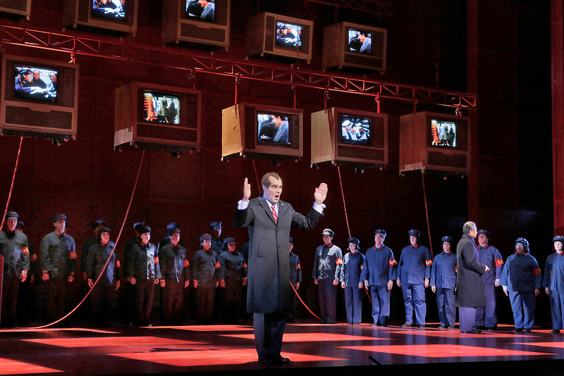 Baritone Franco Pomponi is Richard Nixon in San Diego Opera's NIXON IN CHINA. March, 2015. Photo by Ken Howard.