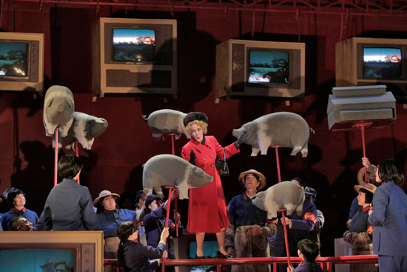 Soprano Maria Kanyova is Pat Nixon in San Diego Opera's NIXON IN CHINA. March, 2015. Photo by Ken Howard.
