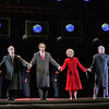 (L-R) Bass baritone Patrick Carfizzi is Henry Kissinger, baritone Franco Pomponi is Richard Nixon, soprano Maria Kanyova is Pat Nixon, and baritone Chen-ye Yuan is Chou En-Lai in San Diego Opera's NIXON IN CHINA. March, 2015. Photo by Ken Howard.