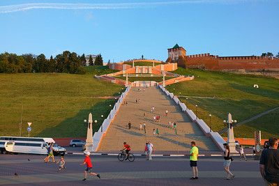Stairs toward Kremlin