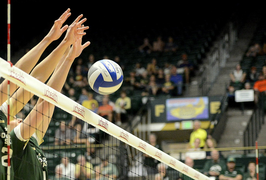 . Colorado State blocked well during the No. 25 Rams\' Sunday sweep of Idaho State at Moby Arena in Fort Collins.