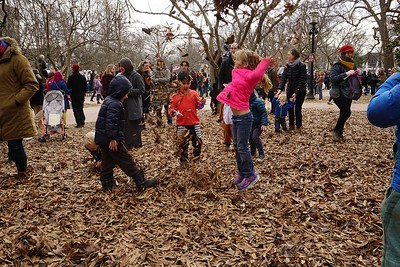 The best protest rallies include a pile of leaves.