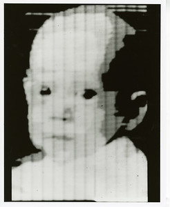 Image of infant son of Russell Kirsch, first picture fed into SEAC in early 1957