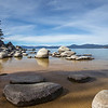 Granite boulders at Sand Harbor State Park.  Eastern shore of Lake Tahoe. Toiyabe National Forest.  Nevada.