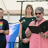 The first North Worcester Country (NoWoCo) Pride Festival was held on Saturday, July 20, 2019 at Riverfront Park in Fitchburg. Mayor Stephen DiNatale reads a proclamation from the city during the event right behind him is State Rep. Natalie Higgins and US Congresswoman Lori Trahan. SENTINEL & ENTERPRISE/JOHN LOVE