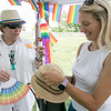 The first North Worcester Country (NoWoCo) Pride Festival was held on Saturday, July 20, 2019 at Riverfront Park in Fitchburg. Kim Dawkins of the Worcester's Pathway for Change, a local rape crisis center, talks to City Councilor Sam Squailia at the event. SENTINEL & ENTERPRISE/JOHN LOVE