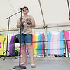 The first North Worcester Country (NoWoCo) Pride Festival was held on Saturday, July 20, 2019 at Riverfront Park in Fitchburg. Entertaining the crowds with some songs is Jessie Spinelli of Leominster. SENTINEL & ENTERPRISE/JOHN LOVE