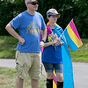 The first North Worcester Country (NoWoCo) Pride Festival was held on Saturday, July 20, 2019 at Riverfront Park in Fitchburg. Listening to the speakers at the event is John Stasiak and Keely Stasiak, 11, of Westminster. SENTINEL & ENTERPRISE/JOHN LOVE