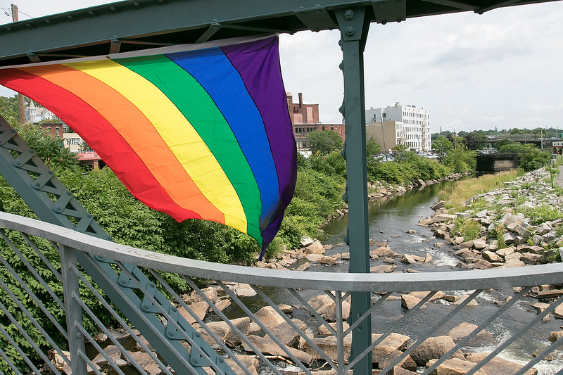 The first North Worcester Country (NoWoCo) Pride Festival was held on Saturday, July 20, 2019 at Riverfront Park in Fitchburg. A rainbow pride flag was attached to the bridge over the Nashua River in front of the park during the event. SENTINEL & ENTERPRISE/JOHN LOVE