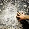 N431 Footprint in the rock at Pungo Andongo, Angola