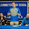 Noah Gray made his collegiate choice official at Leominster High School by signing his national letter of intent to play Division 1 football at Duke University on Wednesday, February 1, 2017. Gray thanks family, teammates and faculty during the gathering. SENTINEL & ENTERPRISE / Ashley Green