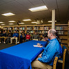Noah Gray made his collegiate choice official at Leominster High School by signing his national letter of intent to play Division 1 football at Duke University on Wednesday, February 1, 2017. Gray signs his letter surrounded by parents Meagan and Jason Gray as well as friends and teammates. SENTINEL & ENTERPRISE / Ashley Green