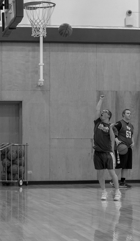 . Mark Query puts up a shot during the Bobcats� after school practice on Feb. 4, 2019.