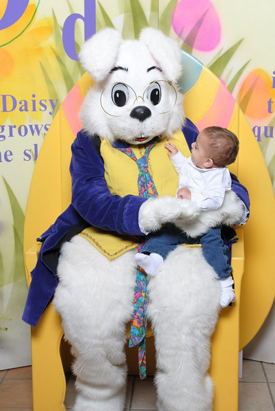 Now was excited to meet the Easter Bunny.
