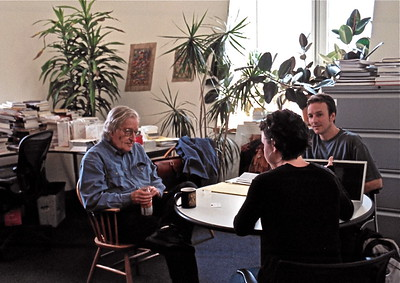08.04.25 Interview of Noam Chomsky at MIT office