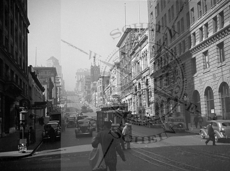 California St Looking West - 1945