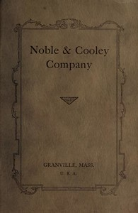 1928 Noble & Cooley Catalog