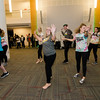 The dance club performs a flash mob during 'Noche Caliente' at Fitchburg State on Wednesday evening. The night was to promote local Fitchburg restaurants and brings campus clubs and organizations together. SENTINEL & ENTERPRISE / Ashley Green