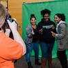 Jennifer Martinez, Diana Nunez and Genesis Soto pose for a photo during 'Noche Caliente' at Fitchburg State on Wednesday evening. The night was to promote local Fitchburg restaurants and brings campus clubs and organizations together. SENTINEL & ENTERPRISE / Ashley Green