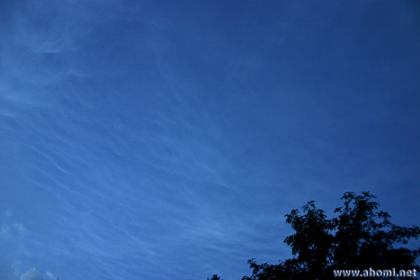 Noctilucent clouds. 16-17th July 2005