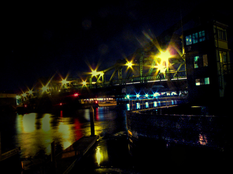 The Green Bridge at Night