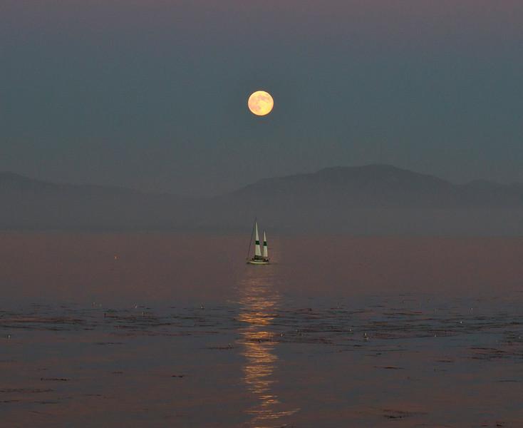 Blue Moon over Rincon Mountain