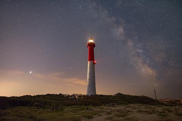 Jupiter, Saturne, le phare de la Coubre et la Voie Lactée