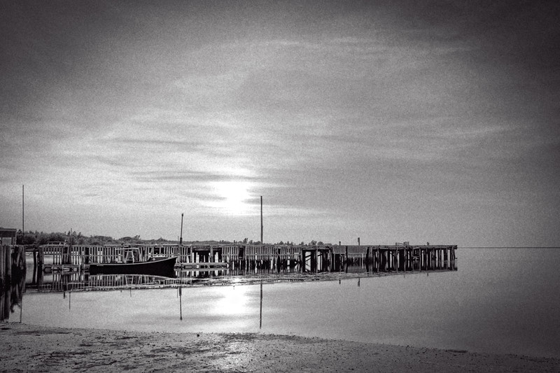 End of the day at the dock