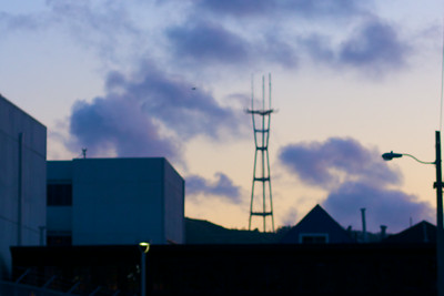 Sutro tower looming