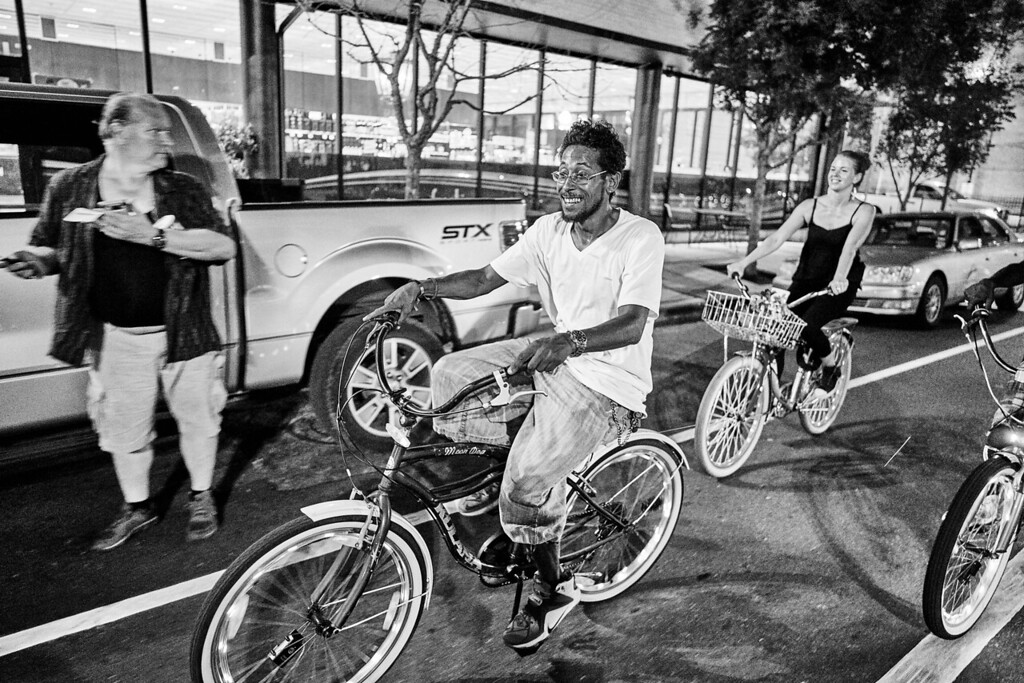 People gather and participate in the NOLA Social Ride.