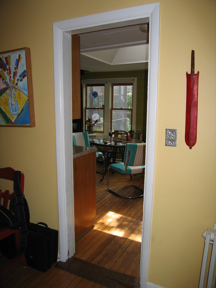 26 Yellow Room to Kitchen