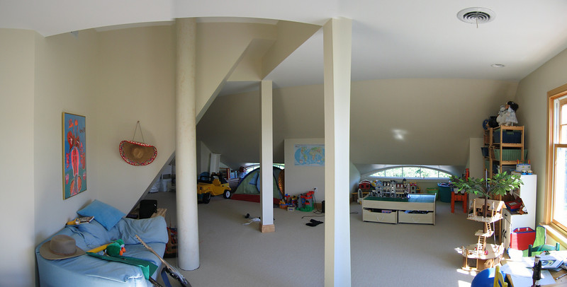 37 Kid's Attic Reverse Pan from Office Alcove