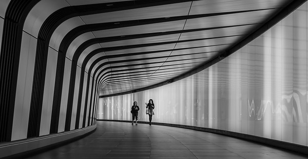Kings Cross Tunnel in Black & White