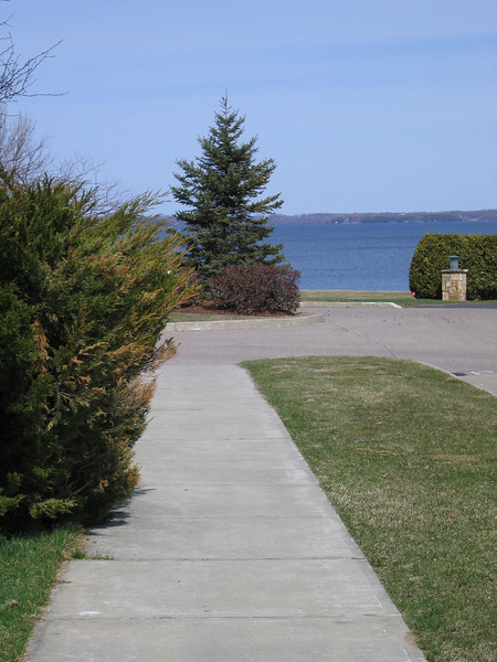 14 Overland Drive, Sidewalk West to lake