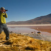 "A travel photo featuring Nomadic Samuel Jeffery photographing the impressive Uyuni Salt Flats, Bolivia.  Travel photo from the Nomadic Samuel's adventure gallery. <a href=""http://nomadicsamuel.com"">http://nomadicsamuel.com</a>"