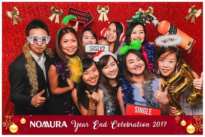 Nomura Year End Celebrations 2017 | © www.SRSLYPhotobooth.sg