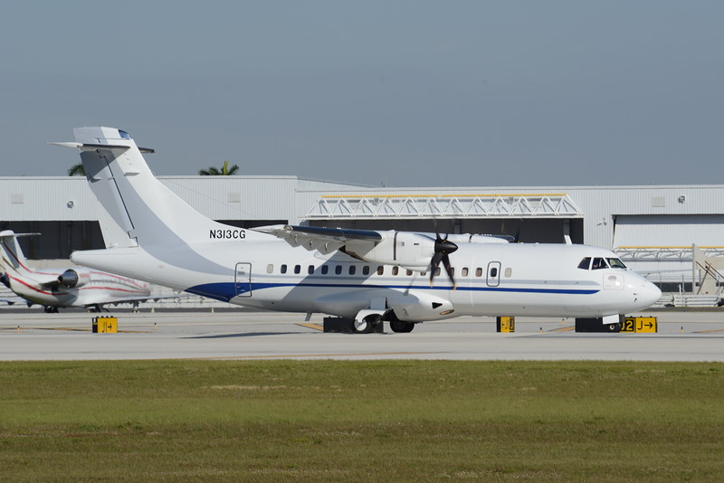 US Department of Justice<br /> 1993 ATR 42-320<br /> N313CG<br /> c/n 358<br /> <br /> 1/18/17 FLL