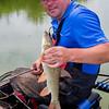 Will Raison holds a stillwater barbel.