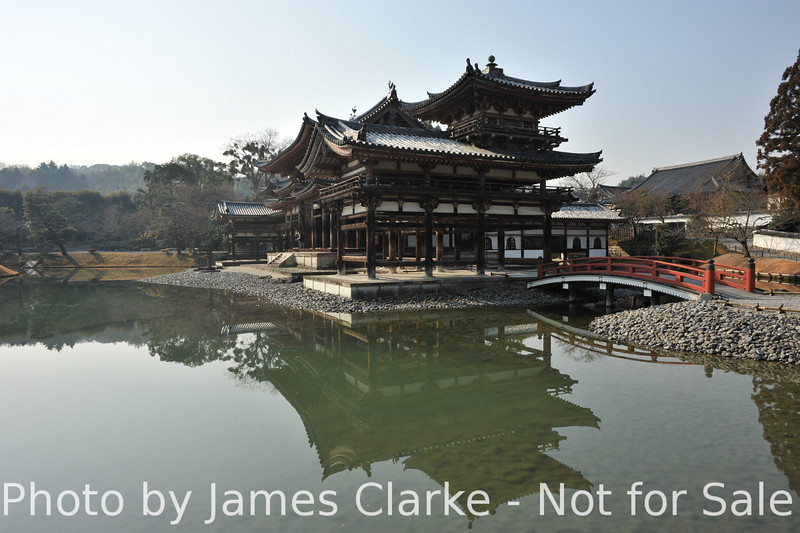 From the North Side of the Lake.<br /> It is a condition of entry of Byodoin Temple that any photos taken there are not used for commercial purposes. The funny thing is: an image of this temple is on the 10 yen coin, and that's being used for commercial purposes every day.