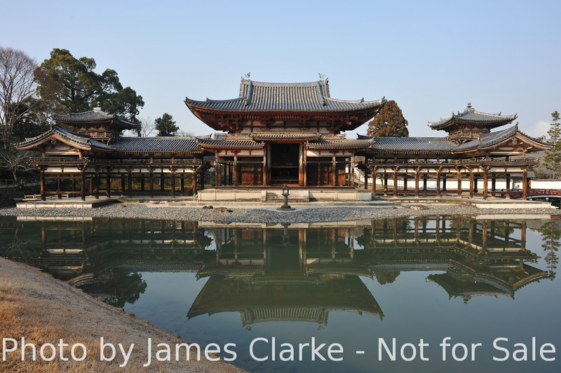 Bydoin Temple, Uji city, Kyoto Prefecture, Japan.<br /> This building is almost 1000 years old.<br /> It is a condition of entry of Byodoin Temple that any photos taken there are not used for commercial purposes. The funny thing is: an image of this temple is on the 10 yen coin, and that's being used for commercial purposes every day.