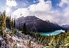 Fresh Snow Above Peyto Lake