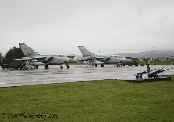 ZE983/'HL' (111 SQN marks) & ZH552/'HW' (111 SQN marks) Tornado F.3 x2.
