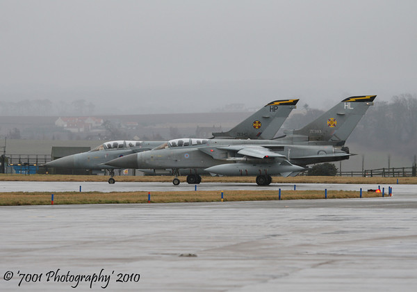 ZE342/'HP' (111 SQN marks) & ZE983/'HL' (111 SQN marks) Tornado F.3 x2.