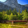The Swinging Bridge Merced River Yosemite Valley California