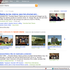 Bing news search for Barack Obama: Results are conveniently and colorfully organized, placing most immediate news and video content high.