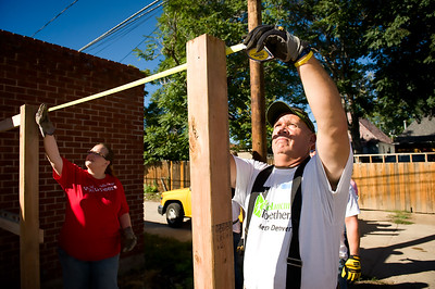 Rebuilding Together Metro Denver's Rebuild-a-thon in the historic Cole Neighborhood saw 15 homes improved by volunteers on September 21, 2013.   For information on how you or your business can help go to www.rebuildingdenver.org/‎  ©2013 Rob Clement | RCVisual